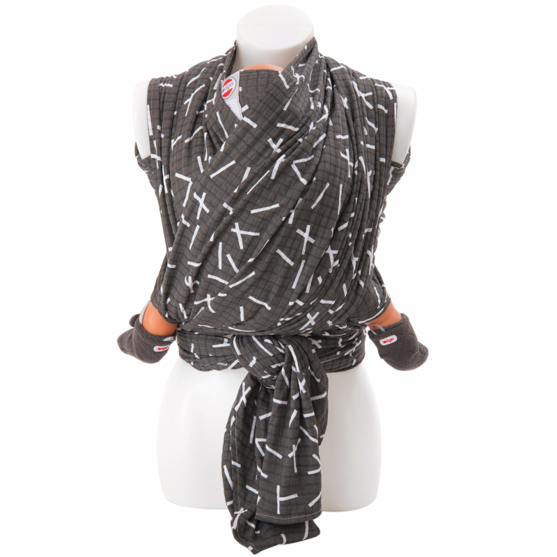 Lodger Chusta do noszenia dziecka Cocooner Sprinkle Print Carbon