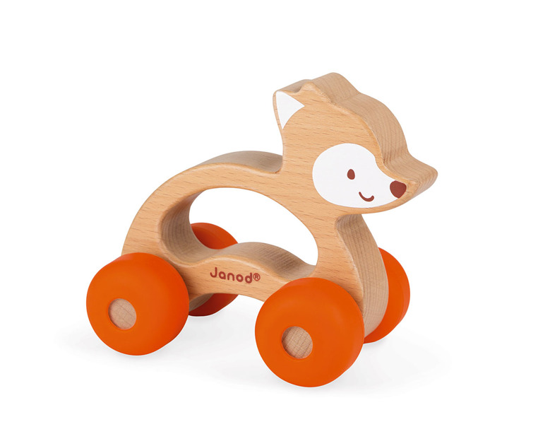 Janod Pojazd Baby Pop Lisek