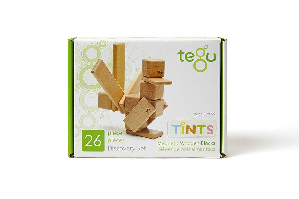 TEGU Drewniane klocki magnetyczne DISCOVERY SET zestaw 26szt Tints