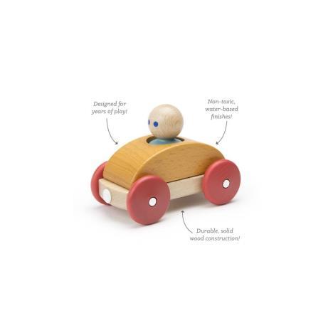TEGU Drewniane klocki magnetyczne BABY AND TODDLER Wyścigówka Orange