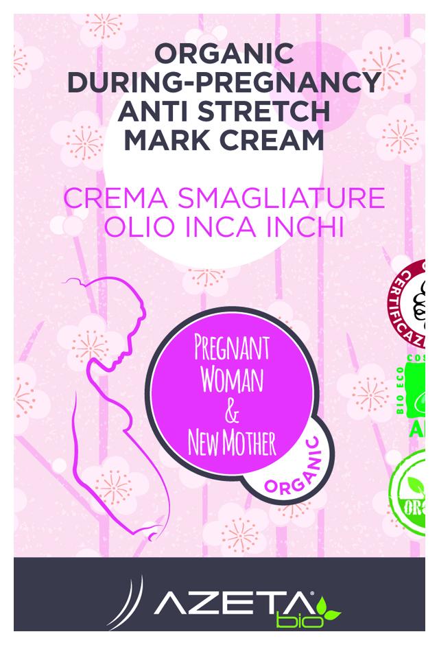 AZETAbio Organiczny krem przeciw rozstępom dla kobiet w ciąży