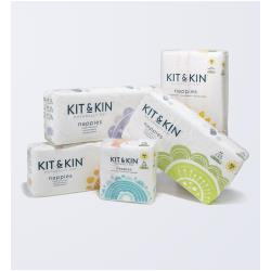 KIT & KIN Biodegradowalne pieluszki jednorazowe 2 Midi 5-8kg 40szt