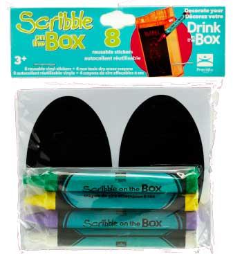 SCRIBBLE ON THE BOX naklejki na bidon