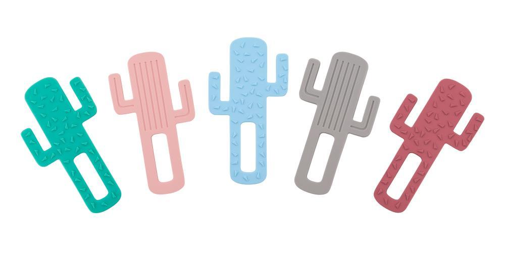 MINIKOIOI Gryzak silikonowy Kaktus szary