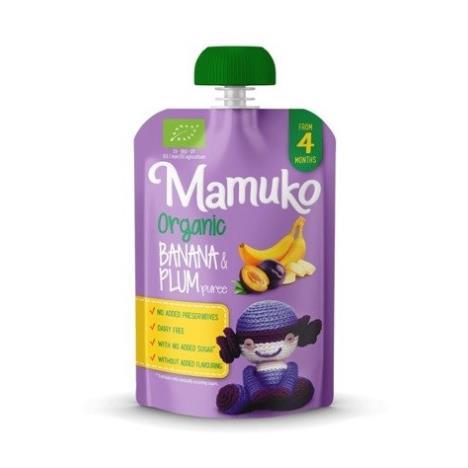 MAMUKO Puree owocowe BIO banan śliwka