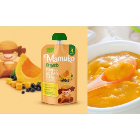 MAMUKO Puree warzywno-owocowe BIO dynia czarna porzeczka