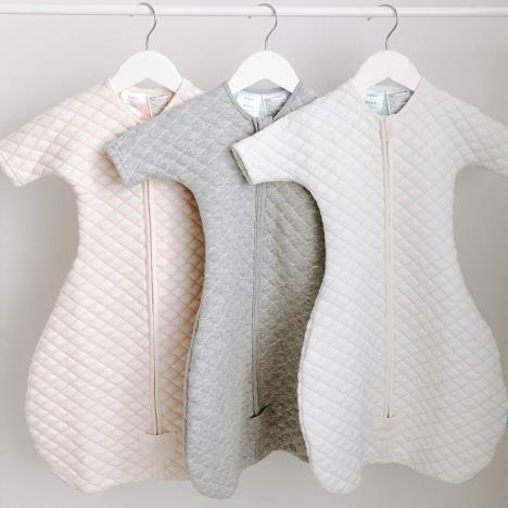 aden+anais Śpiworek snug fit sleeved heather grey/blue