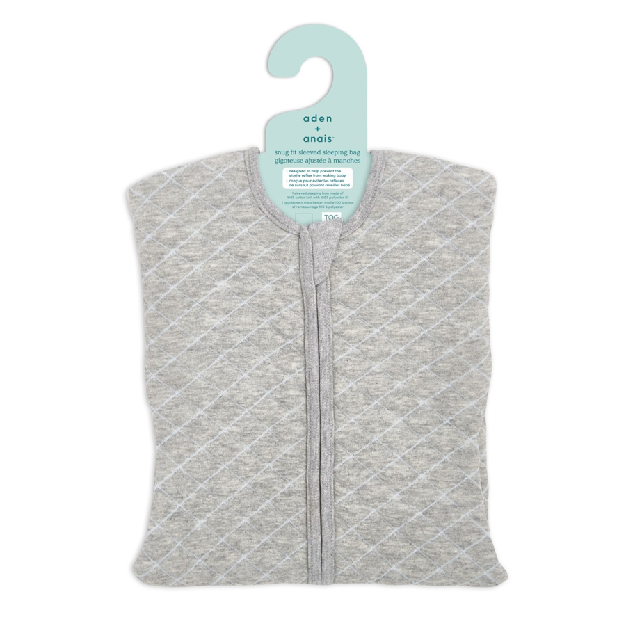 aden+anais Śpiworek snug fit sleeved heather grey/blue rozmiar S