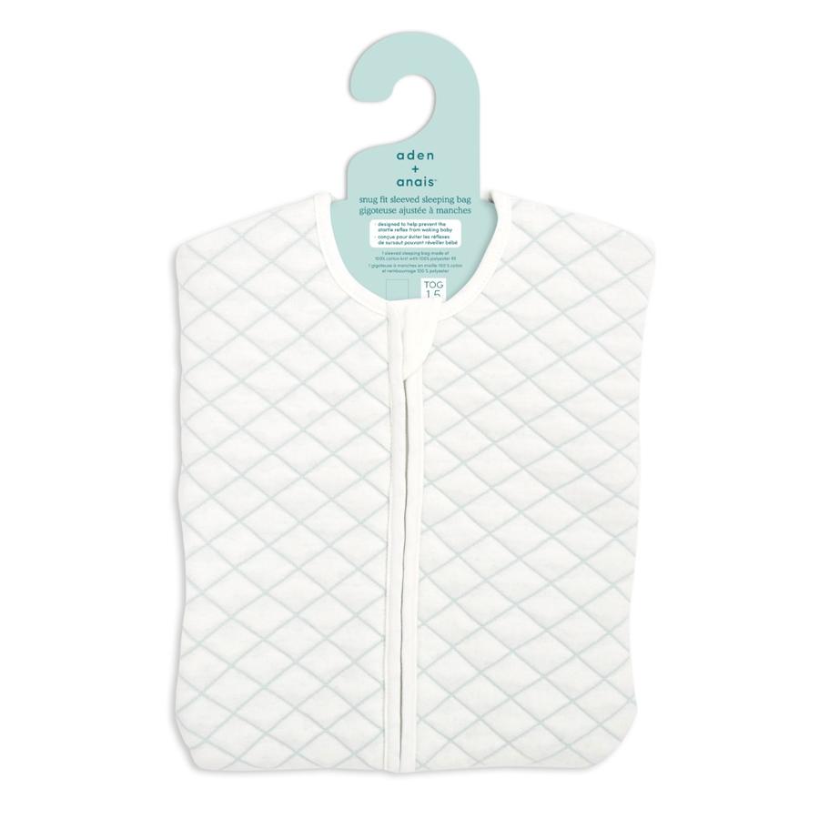 aden+anais Śpiworek snug fit sleeved cream/mint rozmiar S