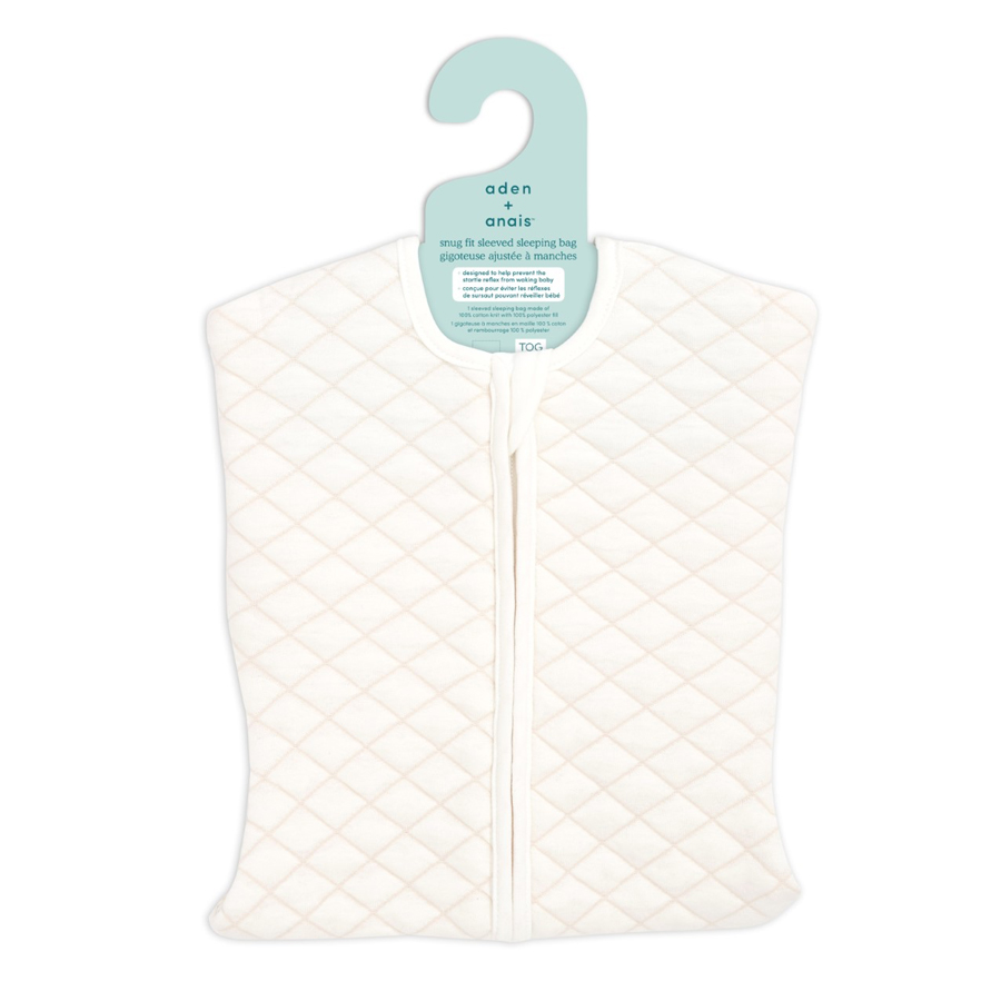 aden+anais Śpiworek snug fit sleeved cream/pink rozmiar M