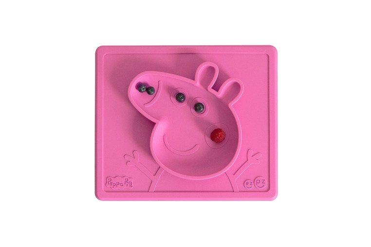 EZPZ Silikonowa miseczka z podkładką 2w1 Peppa Pig różowa