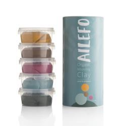 AILEFO Organiczna ciastolina 5x160g