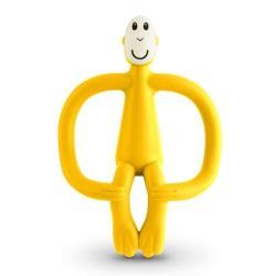 MATCHSTICK MONKEY Gryzak ze szczoteczką żółty