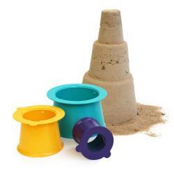 QUUT Zestaw 3 foremek do piasku Wieża Alto Green Purple Yellow
