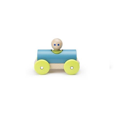 TEGU Drewniane klocki magnetyczne BABY AND TODDLER Wyścigówka Teal