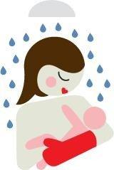 BABY SHOWER GLOVE Rękawiczka antypoślizgowa pod prysznic niebieska