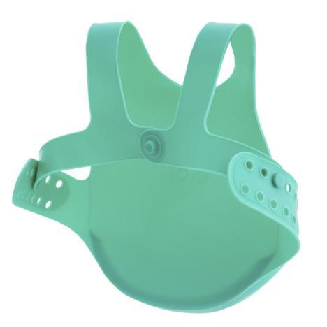 MINIKOIOI Śliniak silikonowy z kieszonką zielony