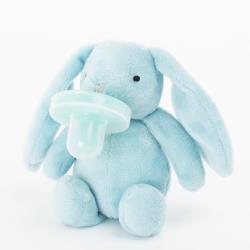 MINIKOIOI Smoczek uspokajający z przytulanką BLUE BUNNY