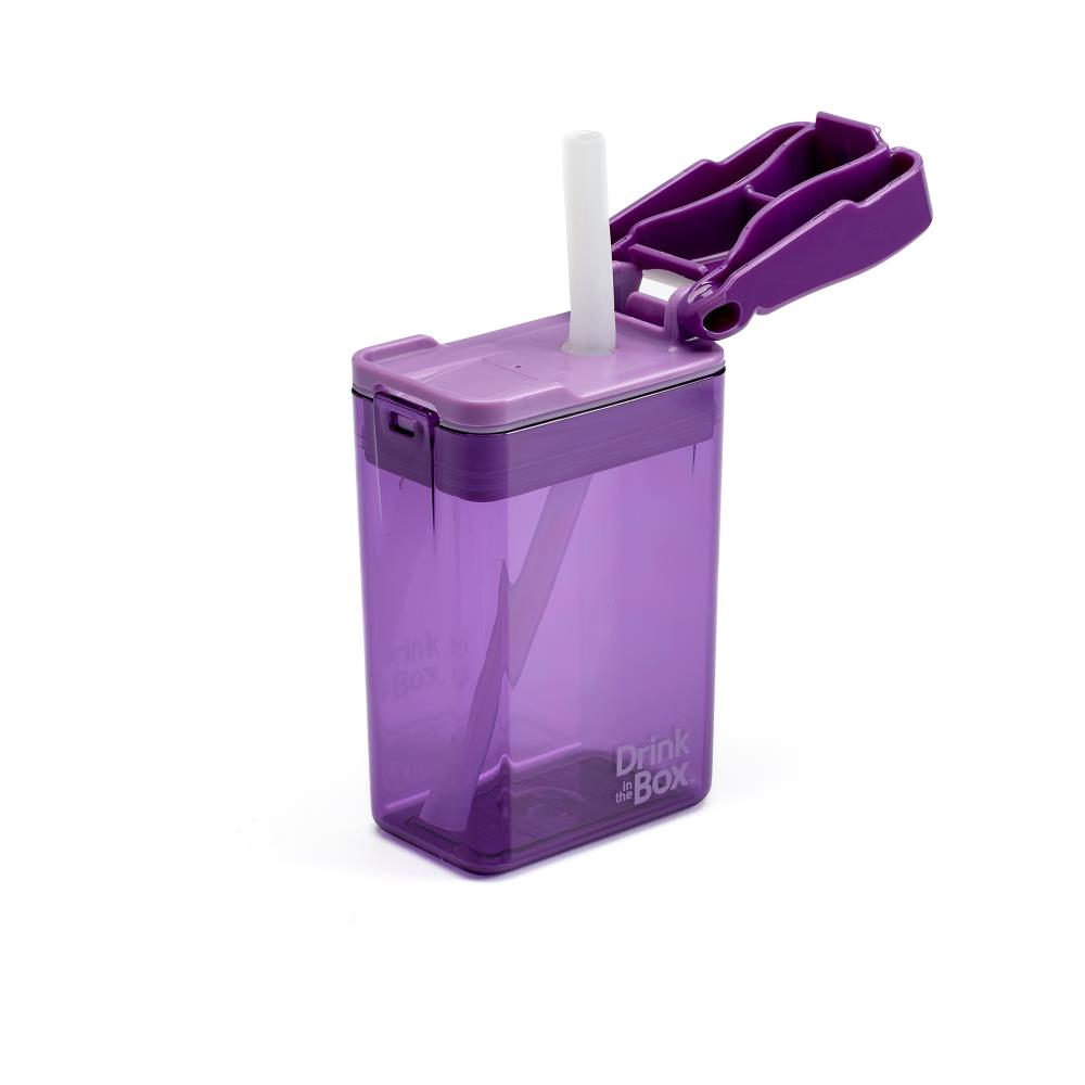 DRINK IN THE BOX MODERN Bidon ze słomką PURPLE 240 ml