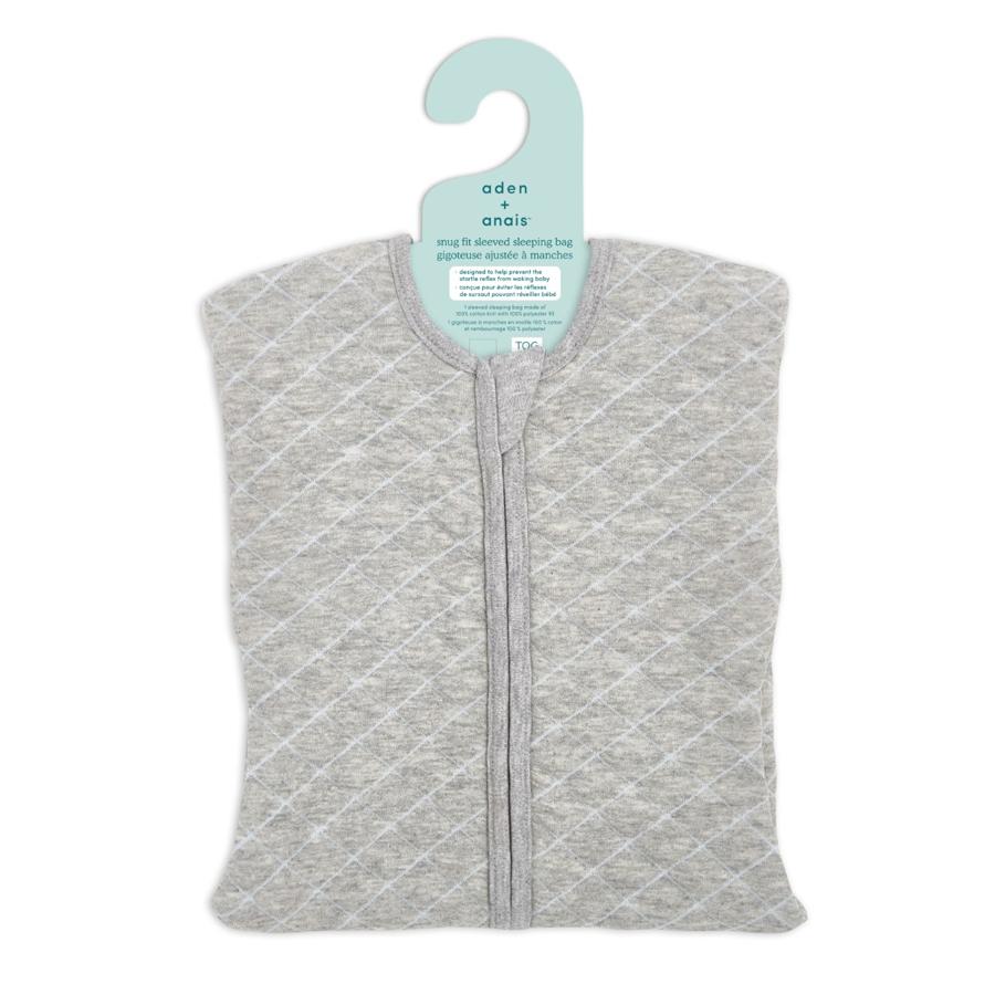 aden+anais Śpiworek snug fit sleeved heather grey/blue rozmiar M