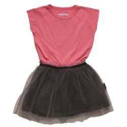 NUNUNU BABY Sukienka neon różowy bajeczna tutu 12-18m