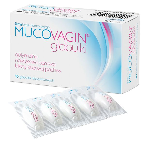 Kopia Mucovagin globulki dopochwowe z kwasem hialuronowym 5 mg