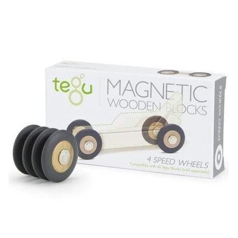 TEGU Drewniane klocki magnetyczne Speed Wheels