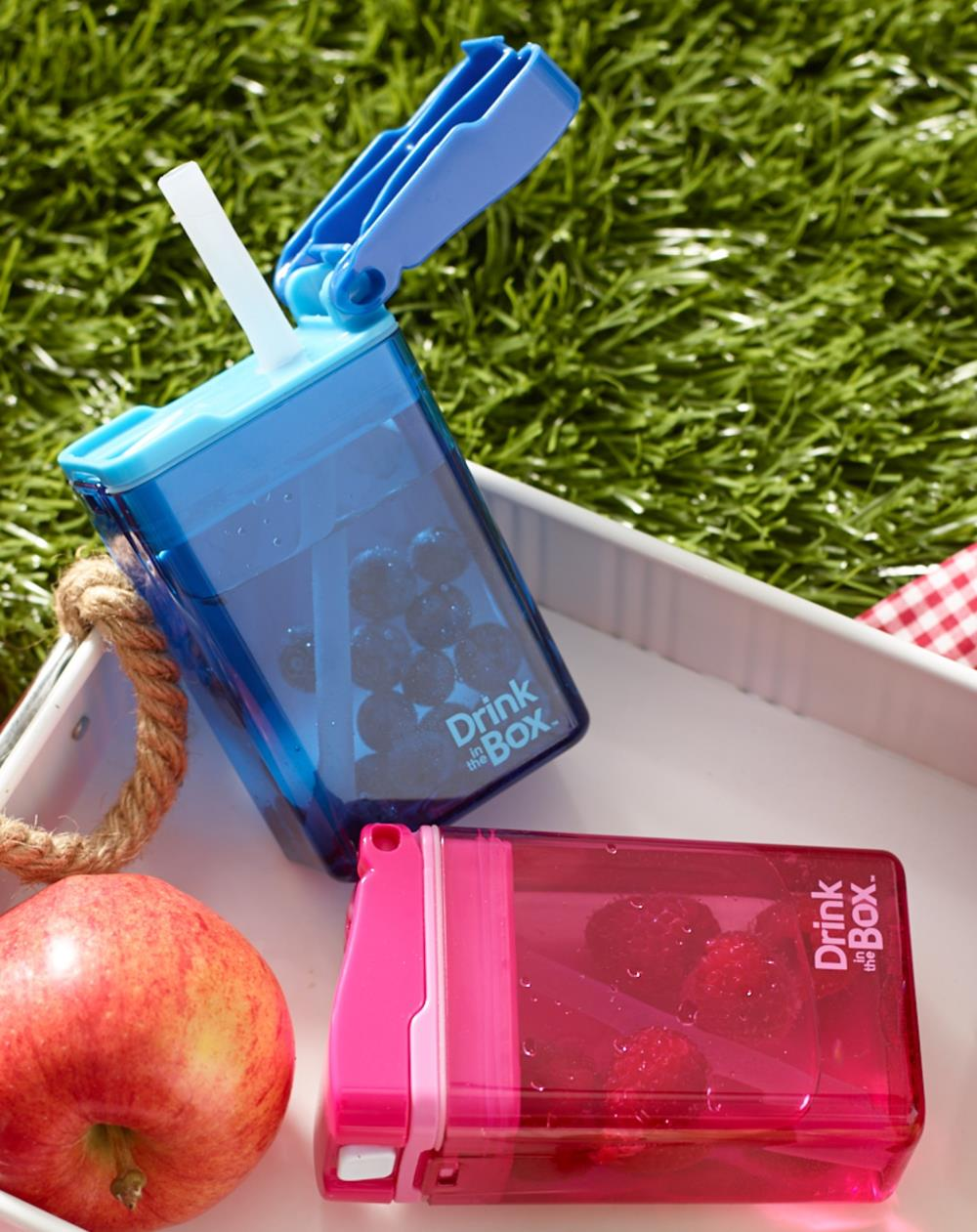 DRINK IN THE BOX Bidon ze słomką zielony nowy 240ml