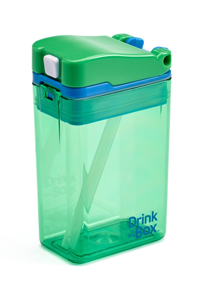 DRINK IN THE BOX MODERN Bidon ze słomką GREEN 240 ml NEW