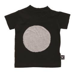 NUNUNU BABY Koszulka czarna z kropą 12-18m