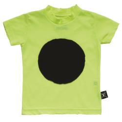 NUNUNU BABY Koszulka neon żółty z kropą 12-18m