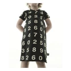 NUNUNU BABY Sukienka czarna w gwiazdki 12-18m