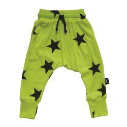 NUNUNU BABY Spodnie buggy neon żółty w gwiazdki