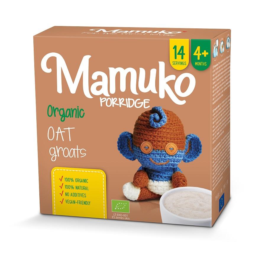 MAMUKO Organiczna kaszka owsiana 4m+