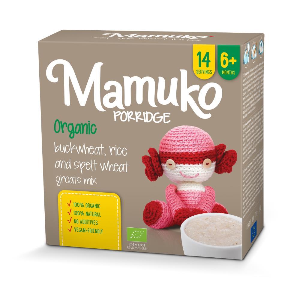 MAMUKO Organiczna kaszka orkisz gryka ryż