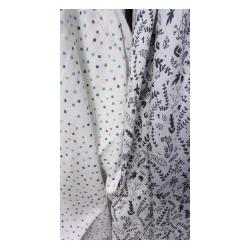 Pink No More Muślinowa pieluszka Botanic/Dots White
