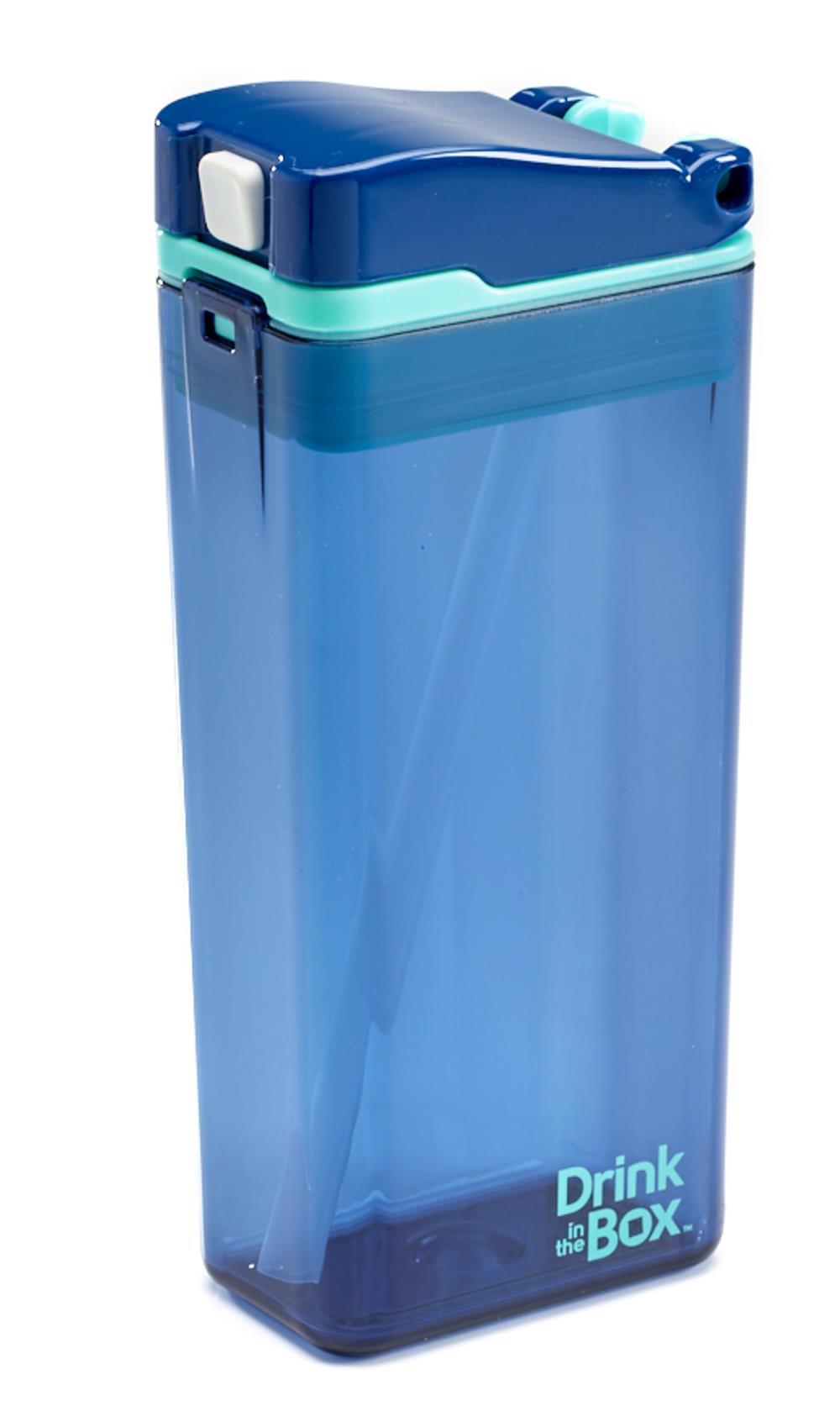DRINK IN THE BOX MODERN Bidon ze słomką BORÓWKOWY 350 ml