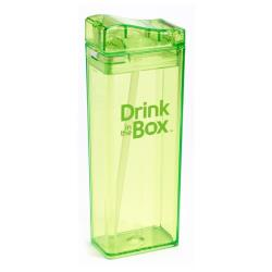DRINK IN THE BOX Bidon ze słomką green 350ml