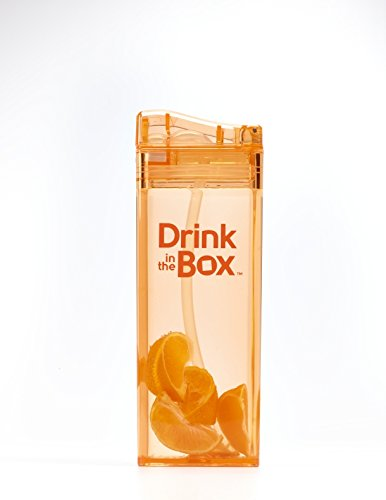 DRINK IN THE BOX CLASSIC Bidon ze słomką ORANGE 350 ml