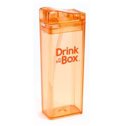DRINK IN THE BOX Bidon ze słomką orange 350 ml