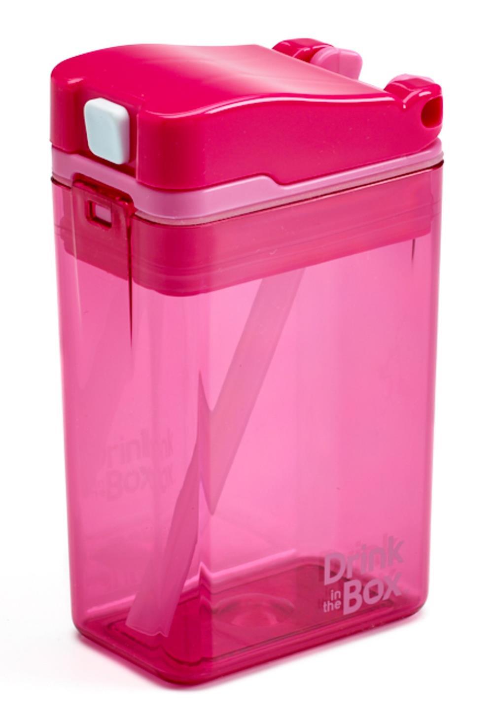 DRINK IN THE BOX Bidon ze słomką pink 240ml