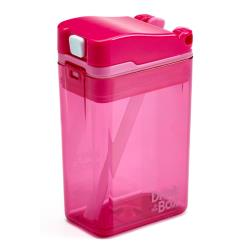 DRINK IN THE BOX MODERN Bidon ze słomką PINK 240 ml