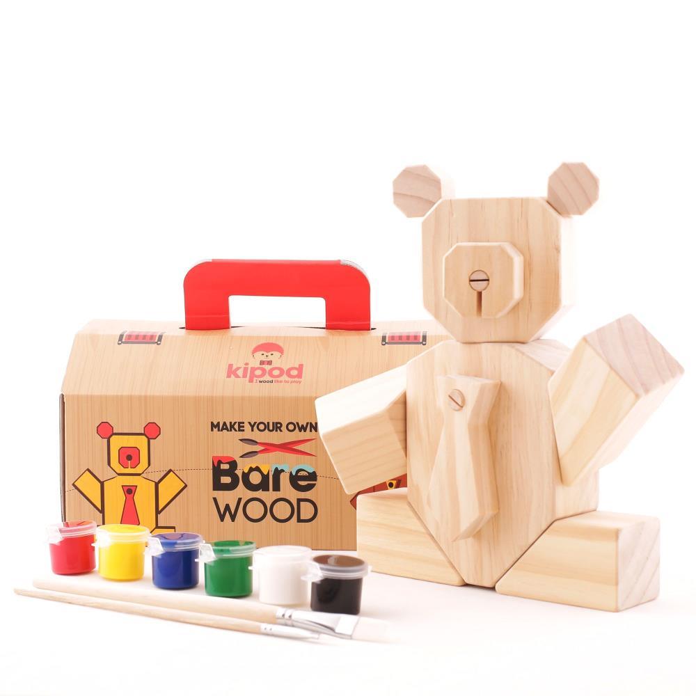 KIPOD Bare Wood Drewniany Miś