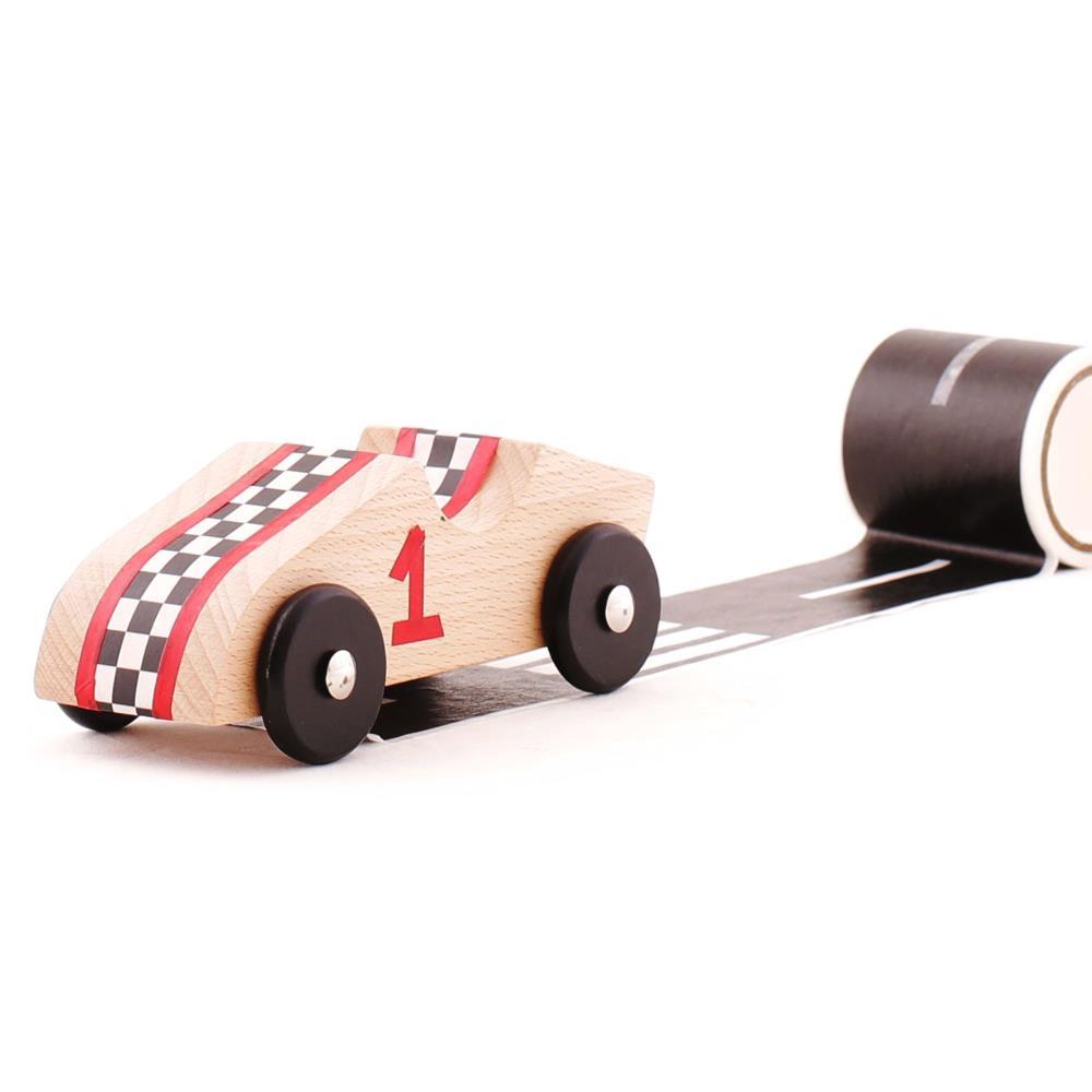 KIPOD Sticar Drewniane auta z naklejkami