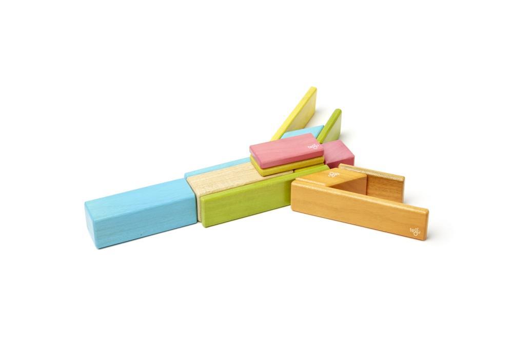 TEGU Drewniane klocki magnetyczne CLASSICS zestaw 14szt Tints