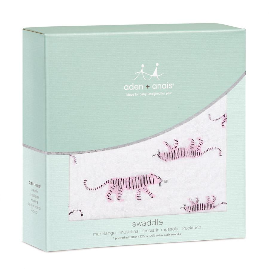 aden+anais Otulacz muślinowy pink tigers
