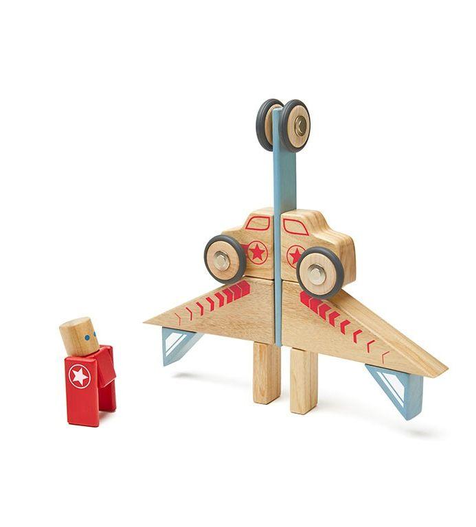 TEGU Drewniane klocki magnetyczne STUNT TEAM Jumper