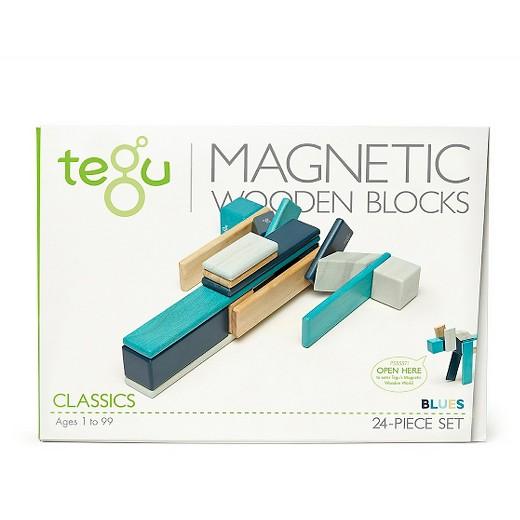 TEGU Drewniane klocki magnetyczne CLASSICS zestaw 24szt Blues